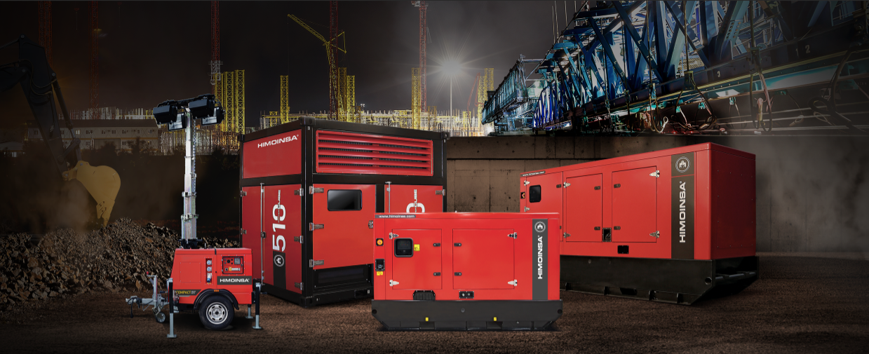 HIMOINSA exhibits its new diesel generators for the rental industry