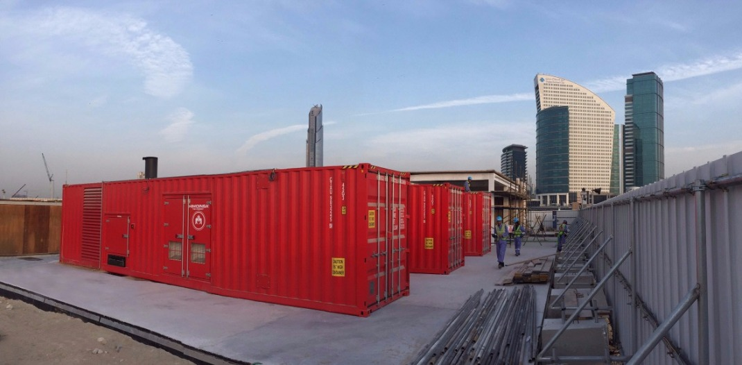 Generator sets supplying energy to Dubai Festival City